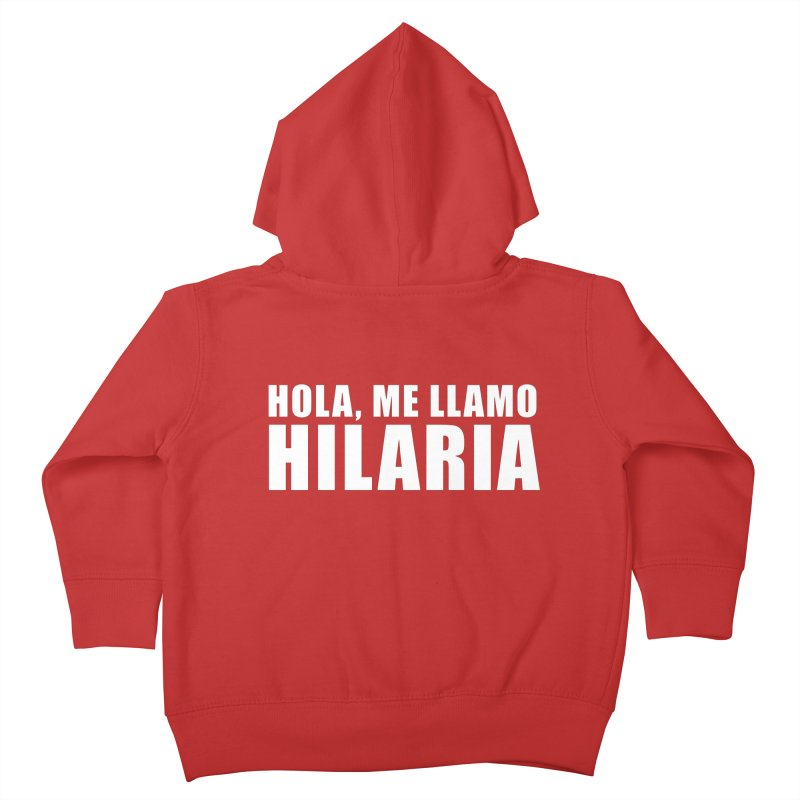 "SIDE EYE/""That's Hilaria!"" (White) Kids Toddler Zip-Up Hoody by Josh Sabarra's Shop"