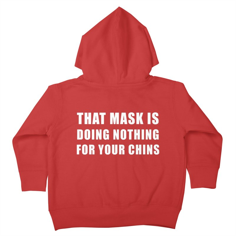 "SIDE EYE/""Mask"" (White) Kids Toddler Zip-Up Hoody by Josh Sabarra's Shop"