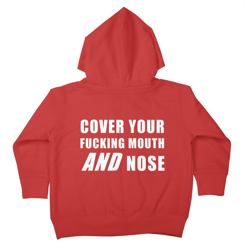 """SIDE EYE/""""Mouth and Nose"""" (White) Kids Toddler Zip-Up Hoody by Josh Sabarra's Shop"""