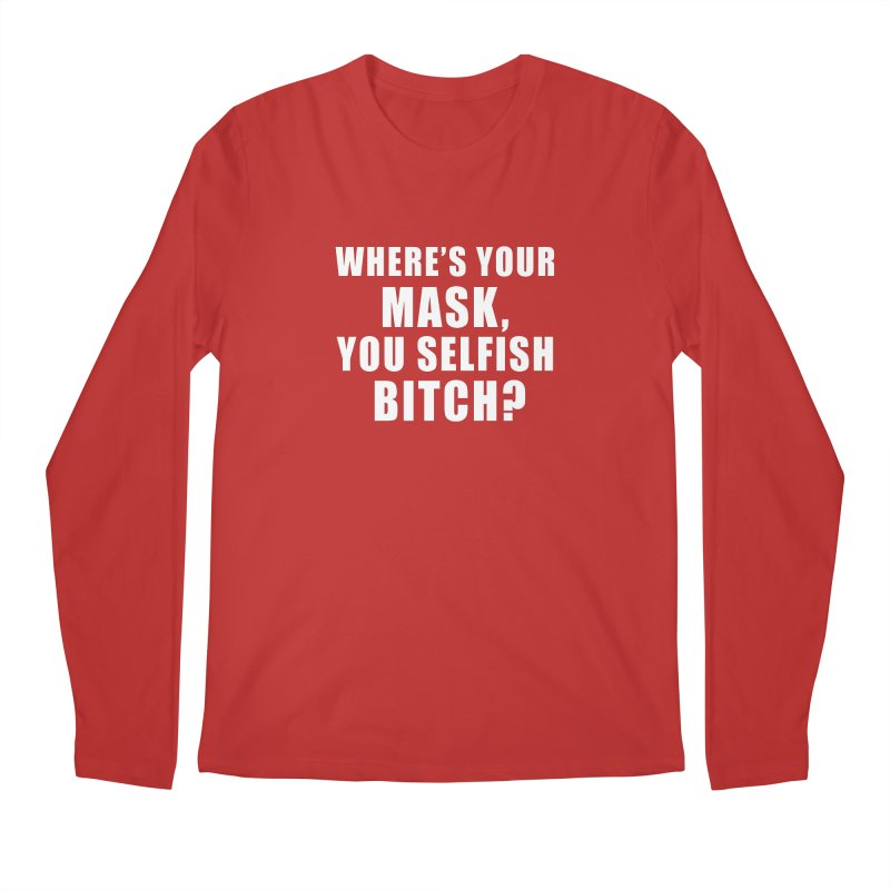 "SIDE EYE/""Mask Bitch"" (White) Men's Longsleeve T-Shirt by Josh Sabarra's Shop"