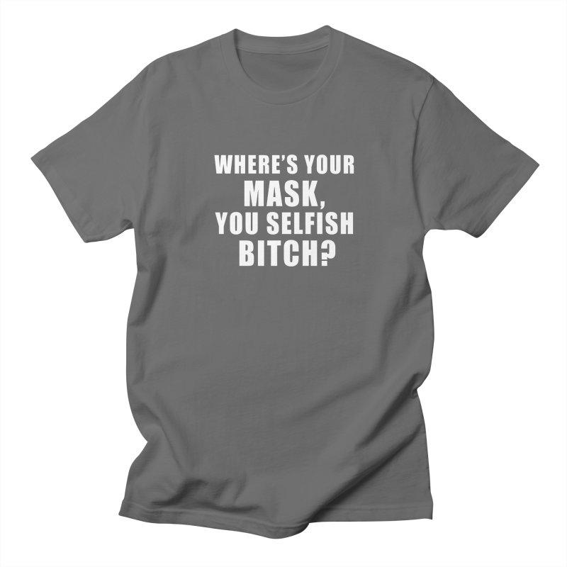 "SIDE EYE/""Mask Bitch"" (White) Men's T-Shirt by Josh Sabarra's Shop"