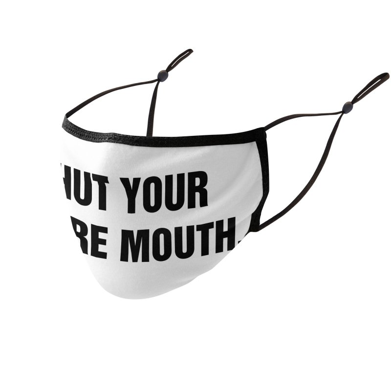 """SIDE EYE/""""Whore Mouth"""" (Black) Accessories Face Mask by Josh Sabarra's Shop"""