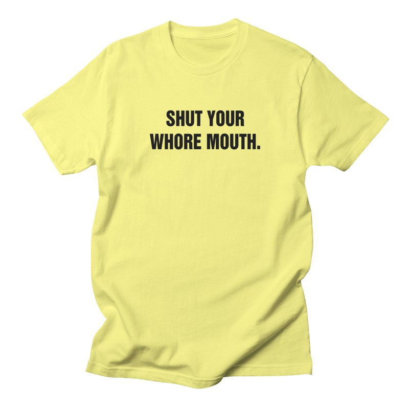"SIDE EYE/""Whore Mouth"" (Black) Men's T-Shirt by Josh Sabarra's Shop"