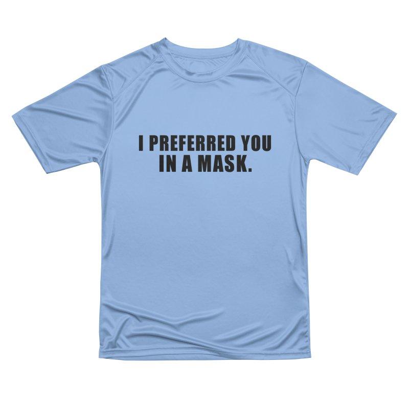 "SIDE EYE/""Mask Preferred"" (Black) Women's T-Shirt by Josh Sabarra's Shop"
