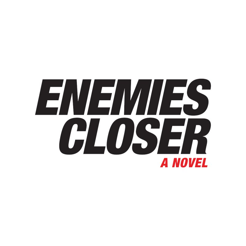 ENEMIES CLOSER Logo (Black) Accessories Notebook by Josh Sabarra's Shop