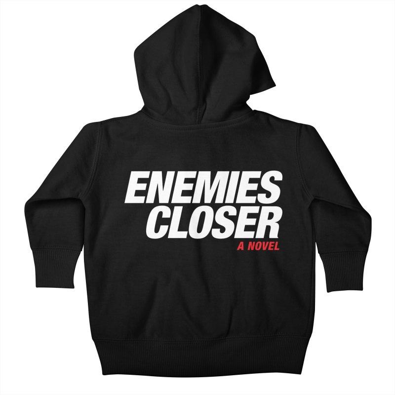 ENEMIES CLOSER Logo (White) Kids Baby Zip-Up Hoody by Josh Sabarra's Shop