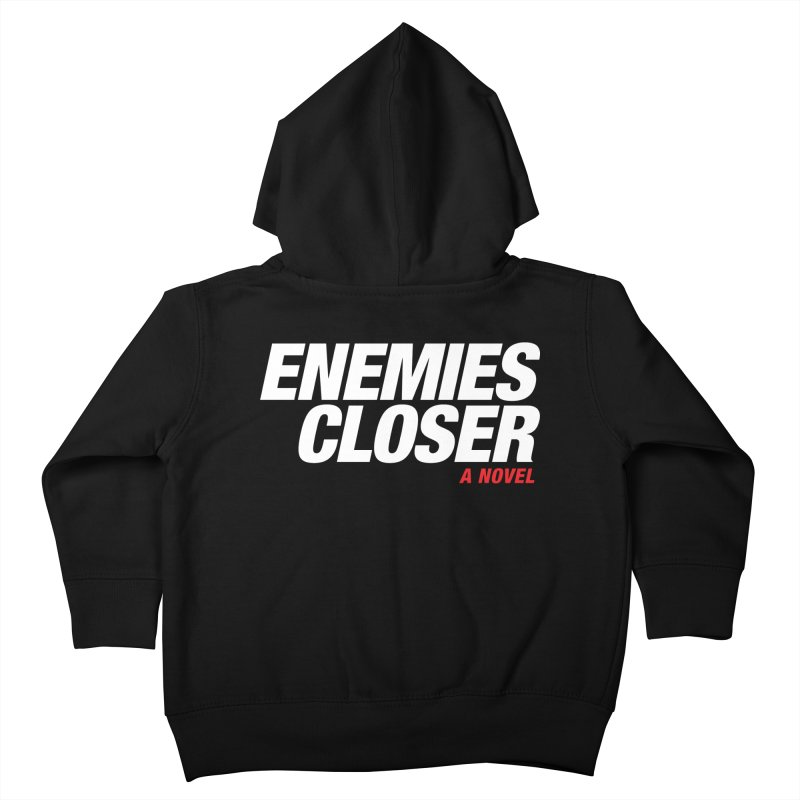 ENEMIES CLOSER Logo (White) Kids Toddler Zip-Up Hoody by Josh Sabarra's Shop