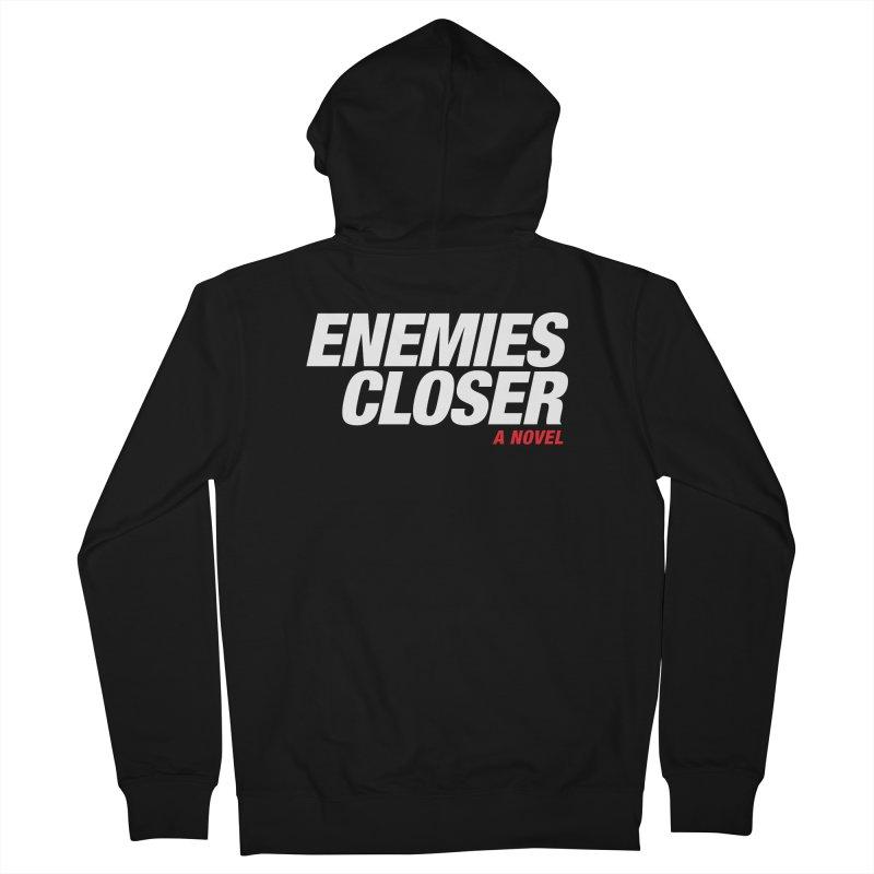 ENEMIES CLOSER Logo (White) Women's Zip-Up Hoody by Josh Sabarra's Shop