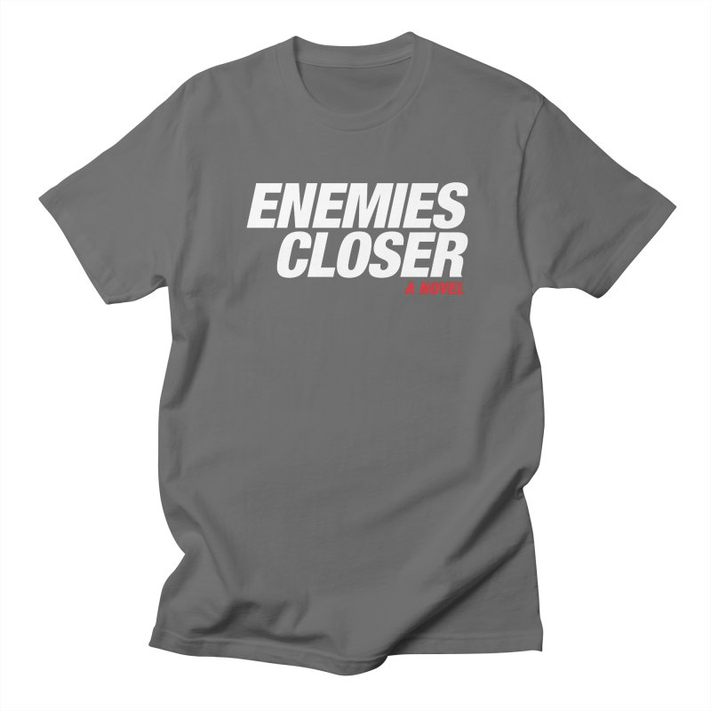 ENEMIES CLOSER Logo (White) Men's T-Shirt by Josh Sabarra's Shop