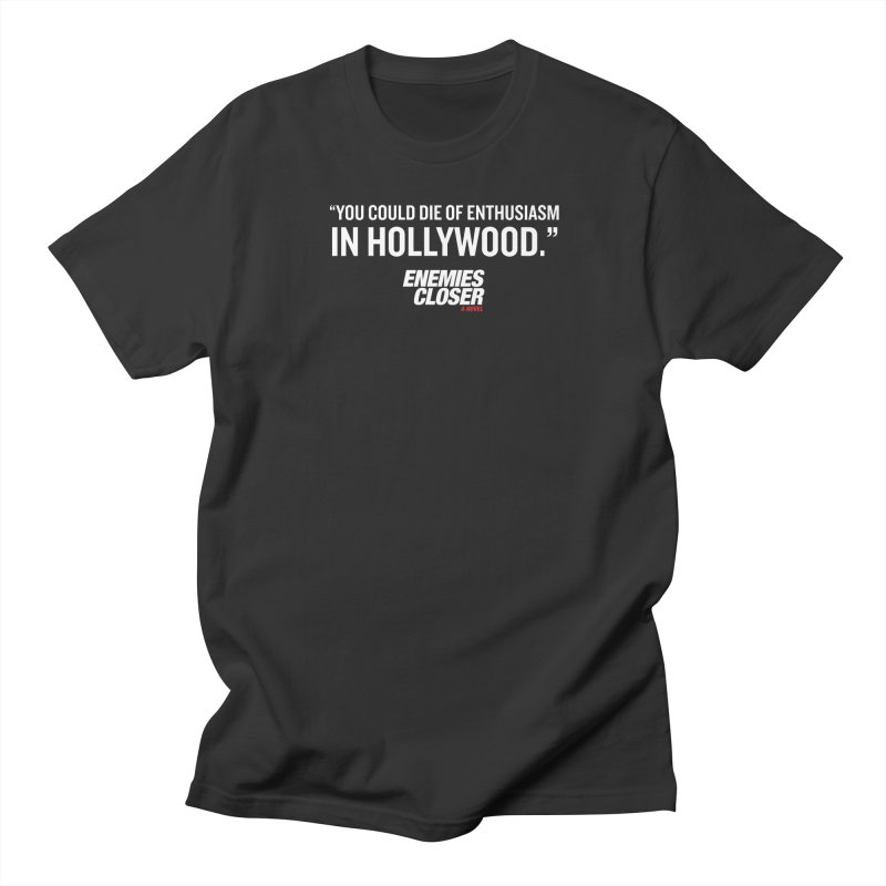 "ENEMIES CLOSER/""Die of Enthusiasm"" (White) in Men's Regular T-Shirt Smoke by Josh Sabarra's Shop"