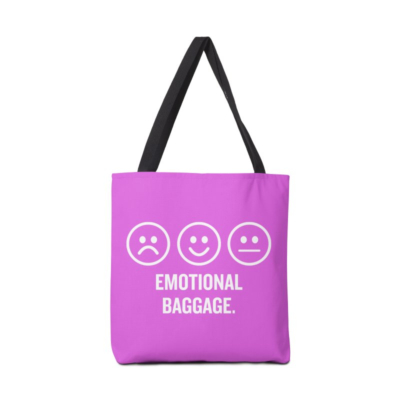 "SIDE EYE/""Emotional Baggage"" (White/Pink) Accessories Bag by Josh Sabarra's Shop"