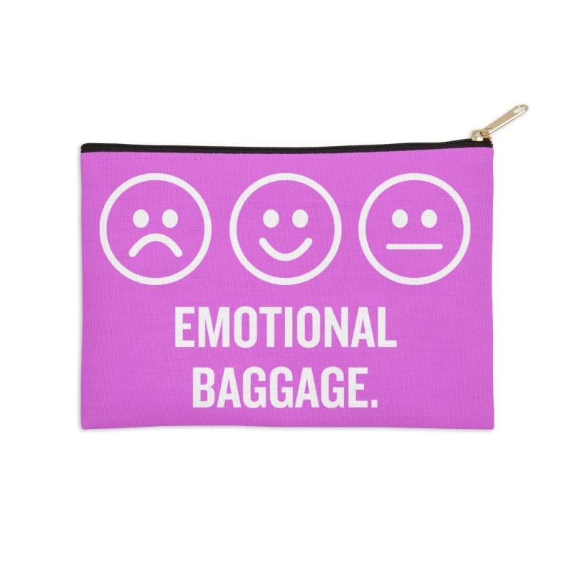 "SIDE EYE/""Emotional Baggage"" (White/Pink) Accessories Zip Pouch by Josh Sabarra's Shop"