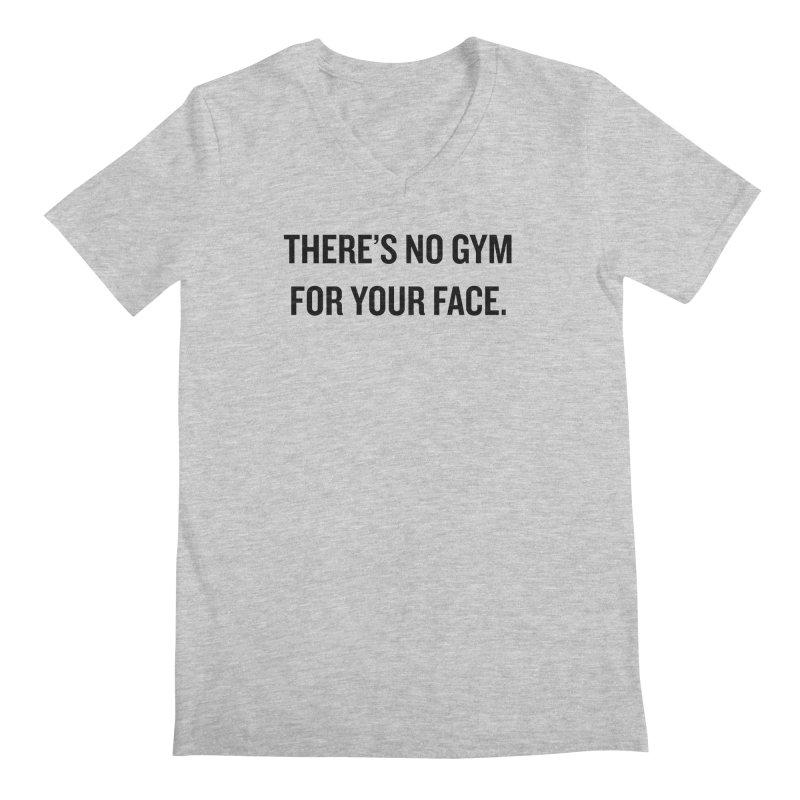 """SIDE EYE/""""No Gym"""" (Black) Men's V-Neck by Josh Sabarra's Shop"""