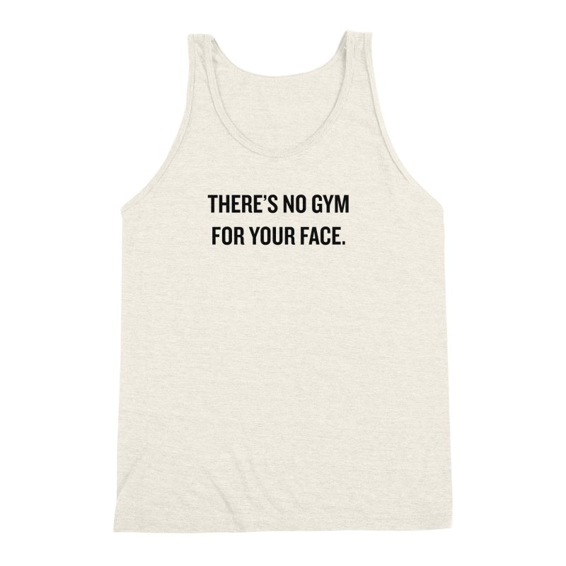 "SIDE EYE/""No Gym"" (Black) Men's Triblend Tank by Josh Sabarra's Shop"