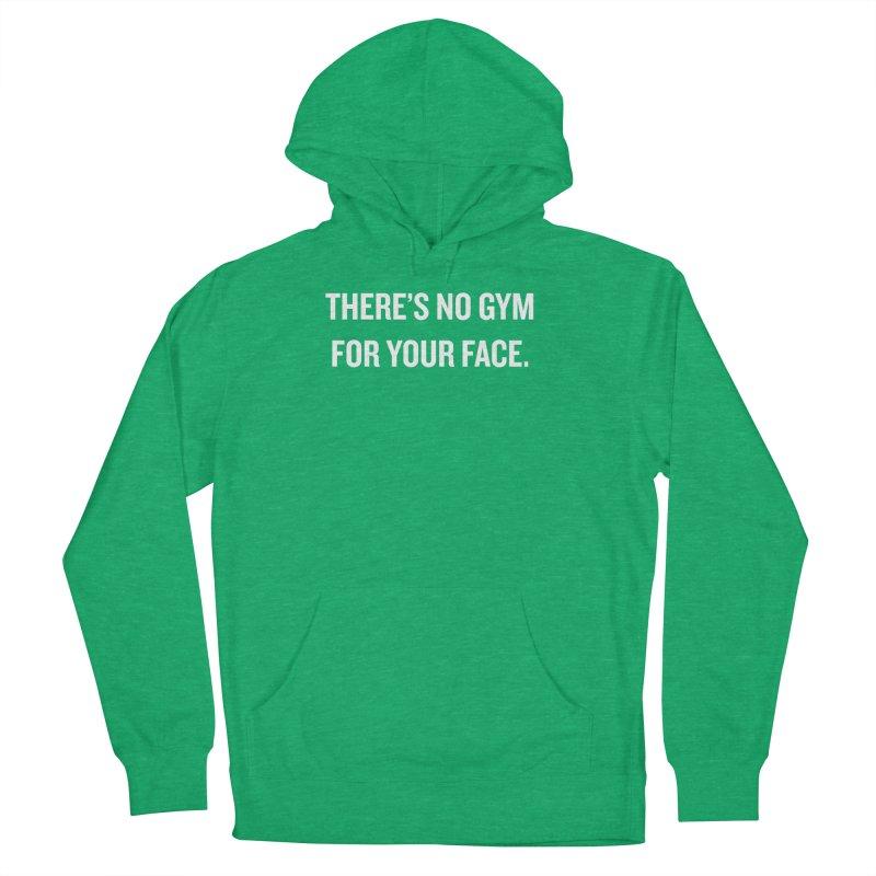 "SIDE EYE/""No Gym"" (White) Men's Pullover Hoody by Josh Sabarra's Shop"