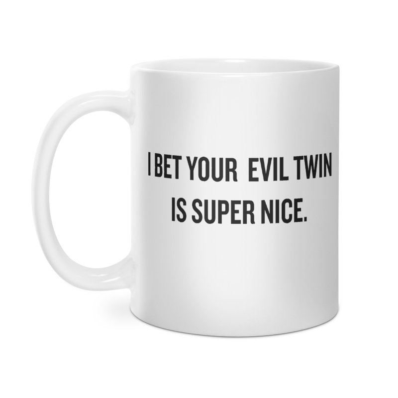 "SIDE EYE/""Evil Twin"" (Black) Accessories Mug by Josh Sabarra's Shop"