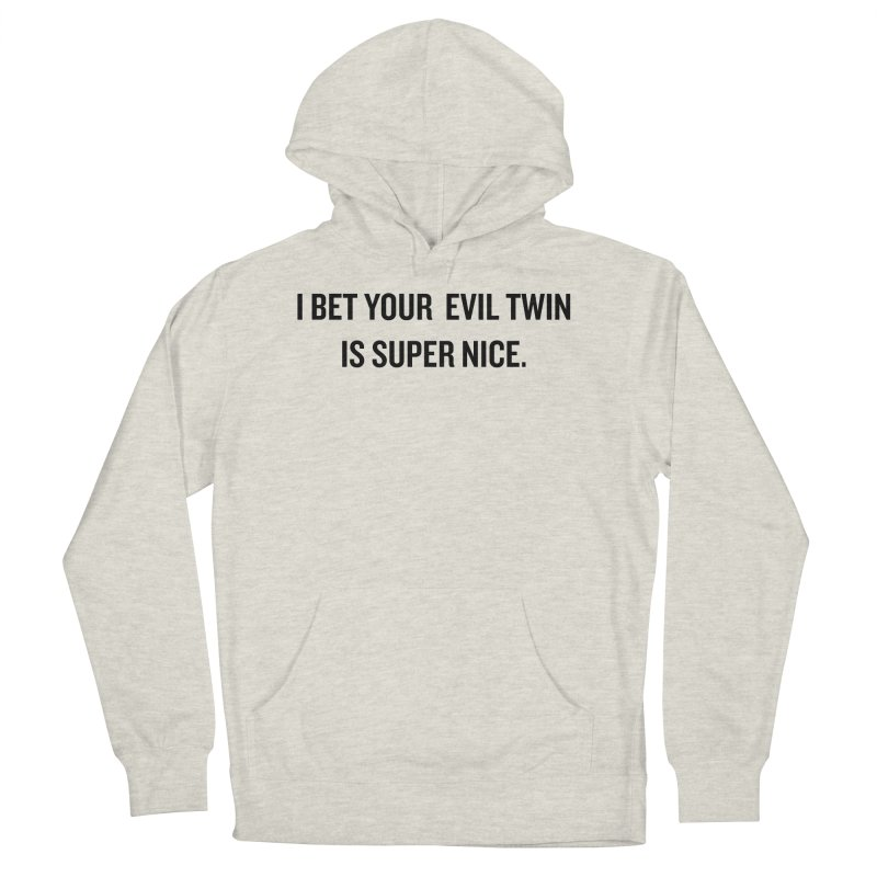 "SIDE EYE/""Evil Twin"" (Black) Women's Pullover Hoody by Josh Sabarra's Shop"