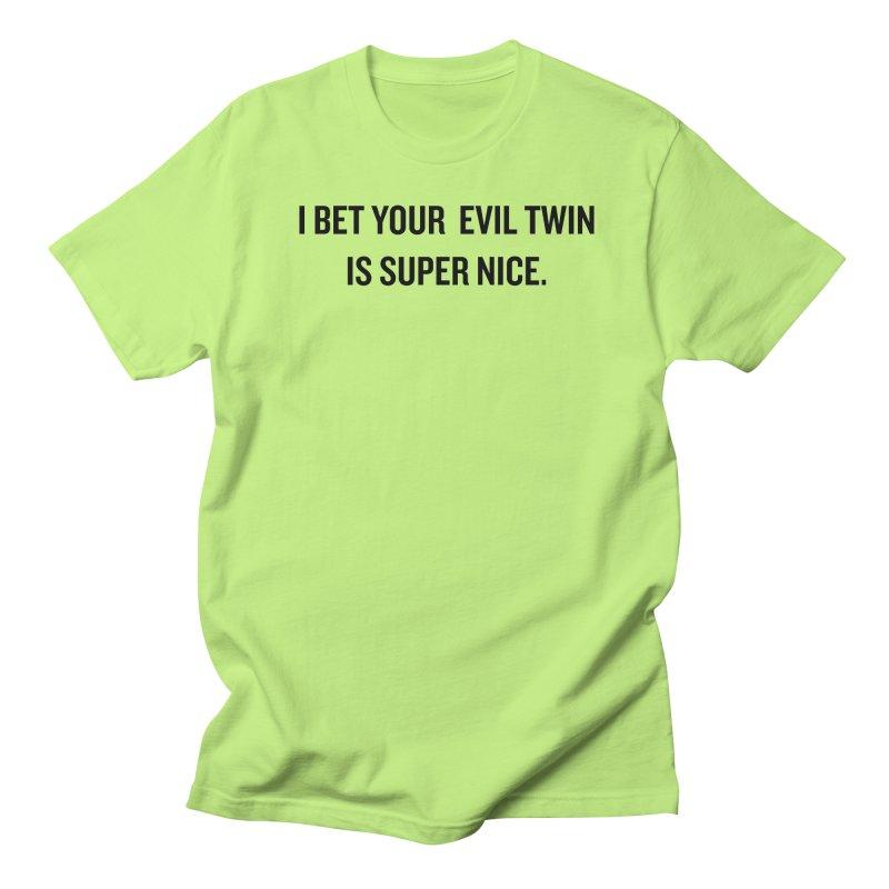 """SIDE EYE/""""Evil Twin"""" (Black) Women's Unisex T-Shirt by Josh Sabarra's Shop"""
