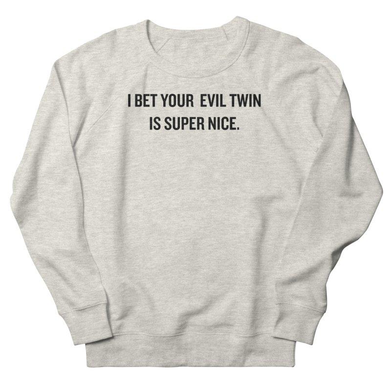 """SIDE EYE/""""Evil Twin"""" (Black) Men's Sweatshirt by Josh Sabarra's Shop"""