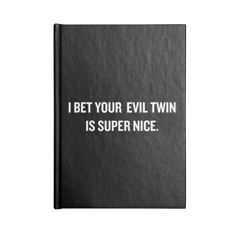"SIDE EYE/""Evil Twin"" (White) Accessories Notebook by Josh Sabarra's Shop"