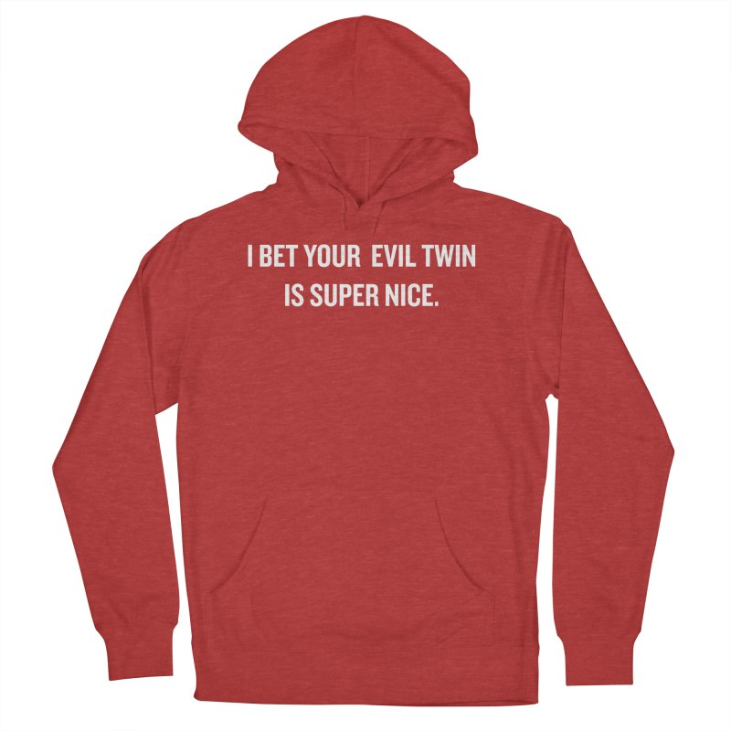 "SIDE EYE/""Evil Twin"" (White) Women's Pullover Hoody by Josh Sabarra's Shop"