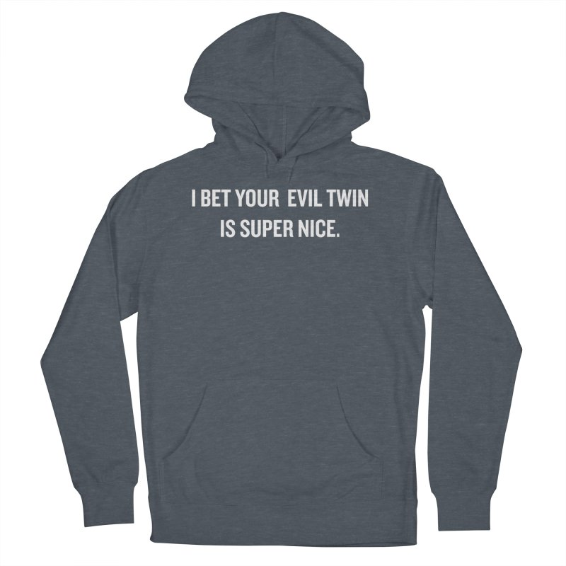 """SIDE EYE/""""Evil Twin"""" (White) Men's Pullover Hoody by Josh Sabarra's Shop"""