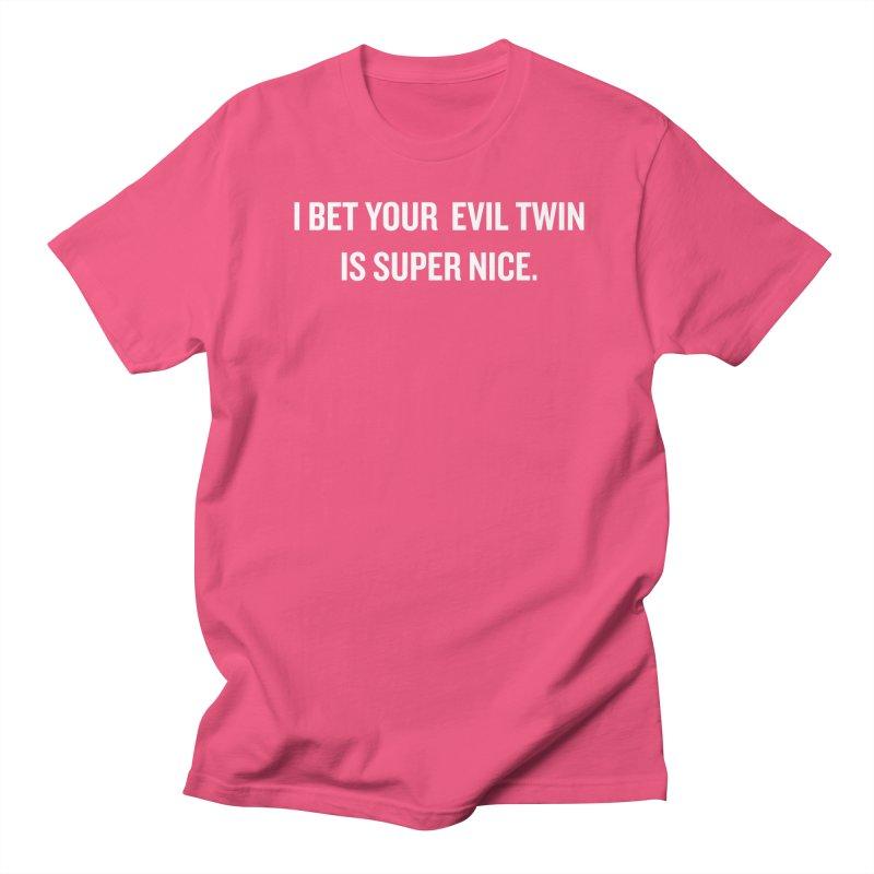 """SIDE EYE/""""Evil Twin"""" (White) Women's Unisex T-Shirt by Josh Sabarra's Shop"""