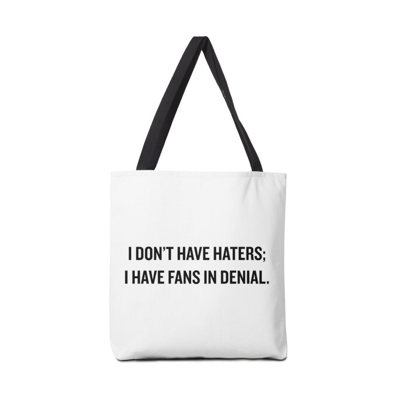 "SIDE EYE/""Haters"" (Black) Accessories Bag by Josh Sabarra's Shop"