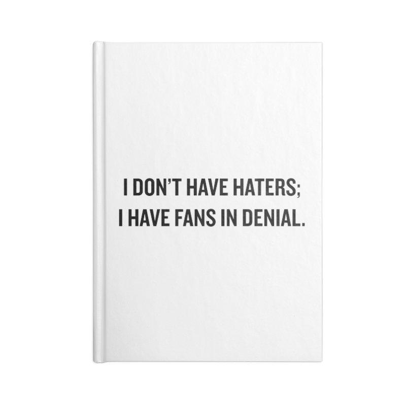 "SIDE EYE/""Haters"" (Black) Accessories Notebook by Josh Sabarra's Shop"