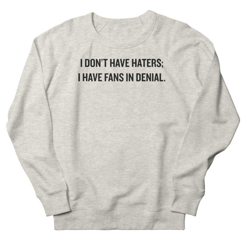 """SIDE EYE/""""Haters"""" (Black) Men's Sweatshirt by Josh Sabarra's Shop"""