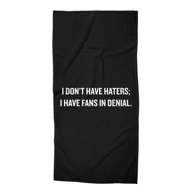 "SIDE EYE/""Haters"" (White) Accessories Beach Towel by Josh Sabarra's Shop"