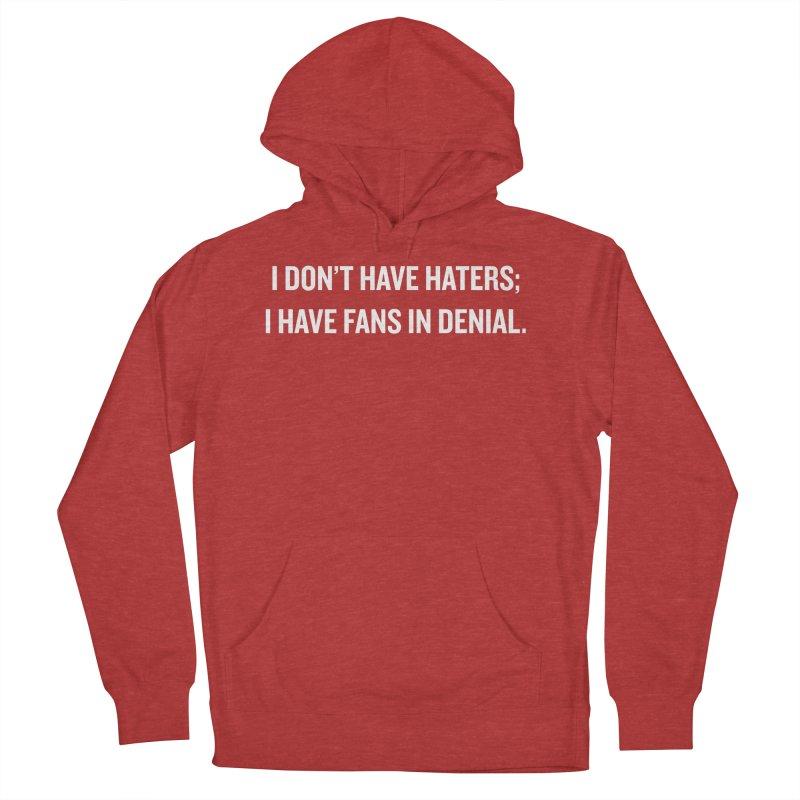 "SIDE EYE/""Haters"" (White) Men's Pullover Hoody by Josh Sabarra's Shop"