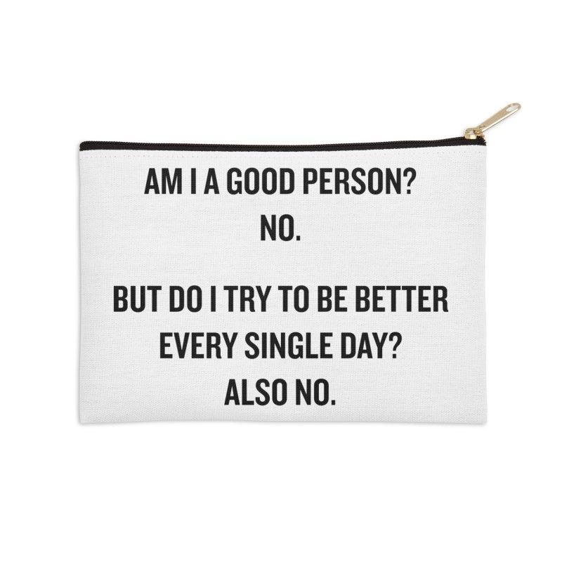 "SIDE EYE/""Good Person"" (Black) Accessories Zip Pouch by Josh Sabarra's Shop"