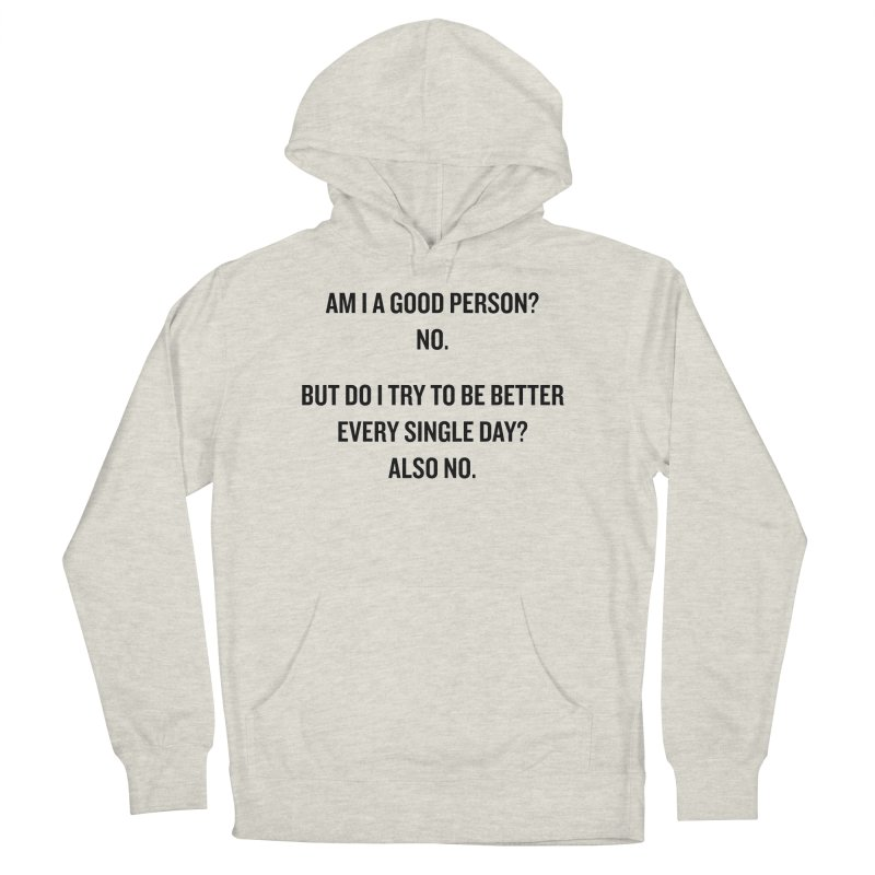 "SIDE EYE/""Good Person"" (Black) Women's Pullover Hoody by Josh Sabarra's Shop"