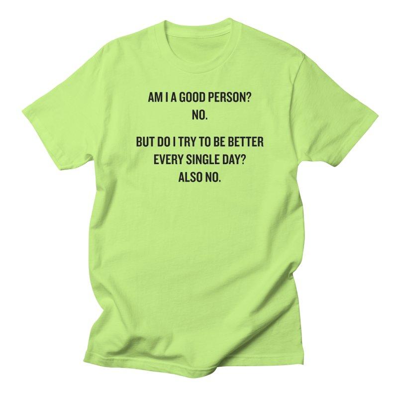"SIDE EYE/""Good Person"" (Black) Women's Unisex T-Shirt by Josh Sabarra's Shop"