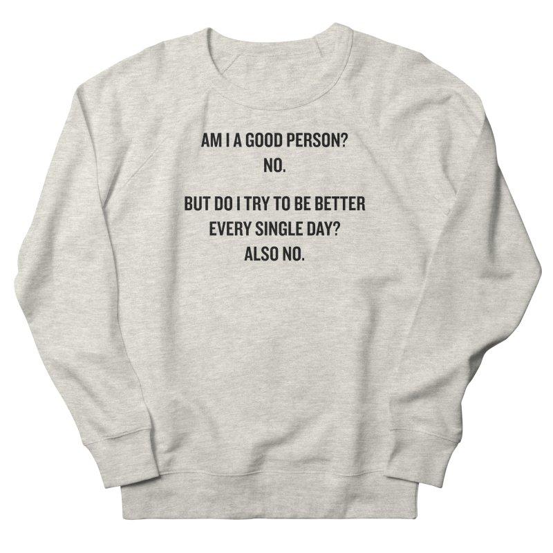 "SIDE EYE/""Good Person"" (Black) Men's Sweatshirt by Josh Sabarra's Shop"