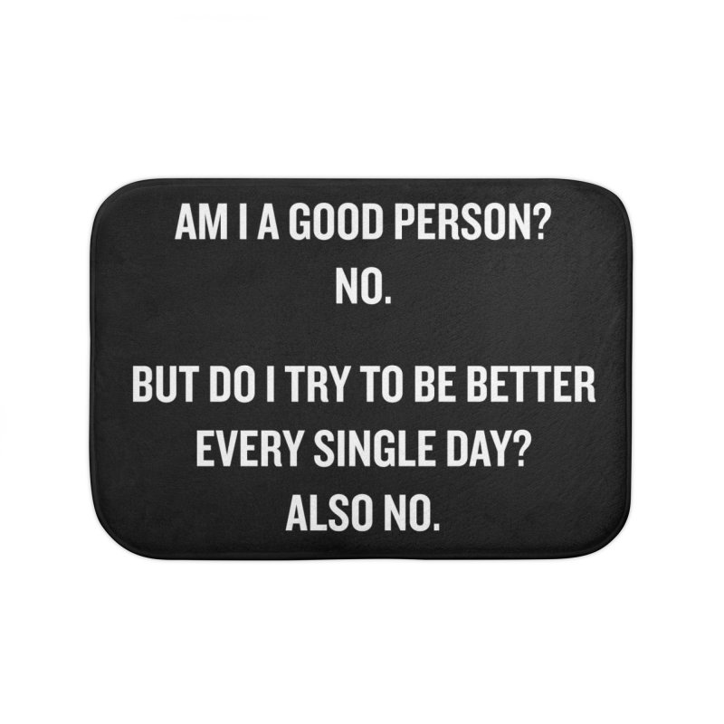 "SIDE EYE/""Good Person"" (White) Home Bath Mat by Josh Sabarra's Shop"