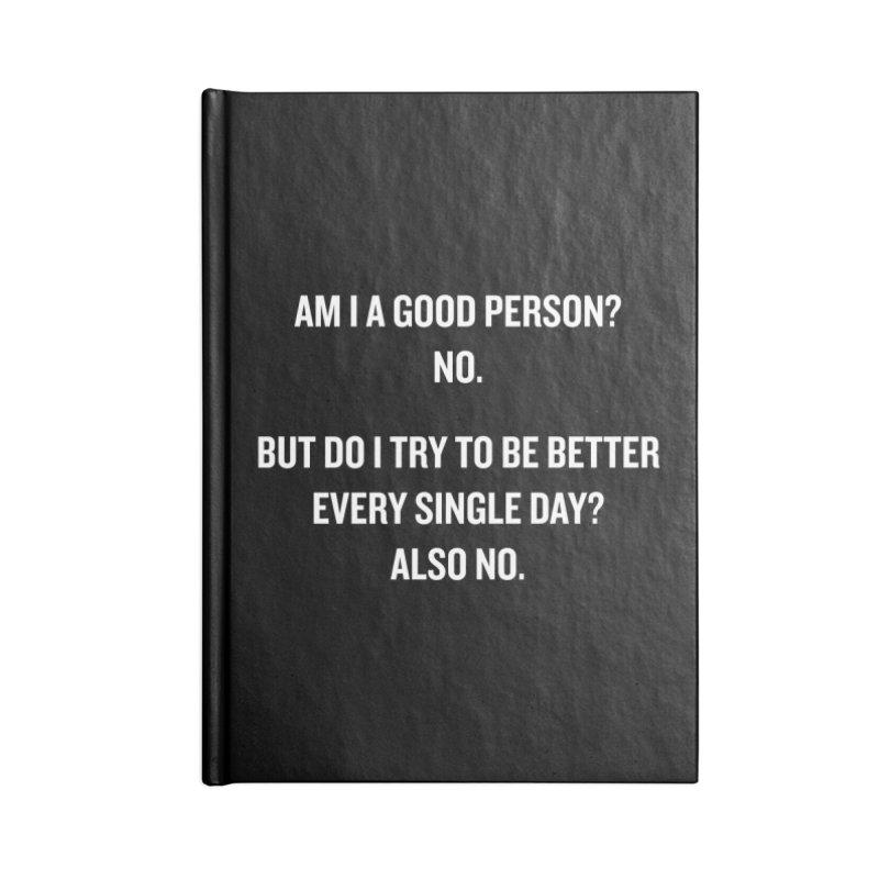 "SIDE EYE/""Good Person"" (White) Accessories Notebook by Josh Sabarra's Shop"
