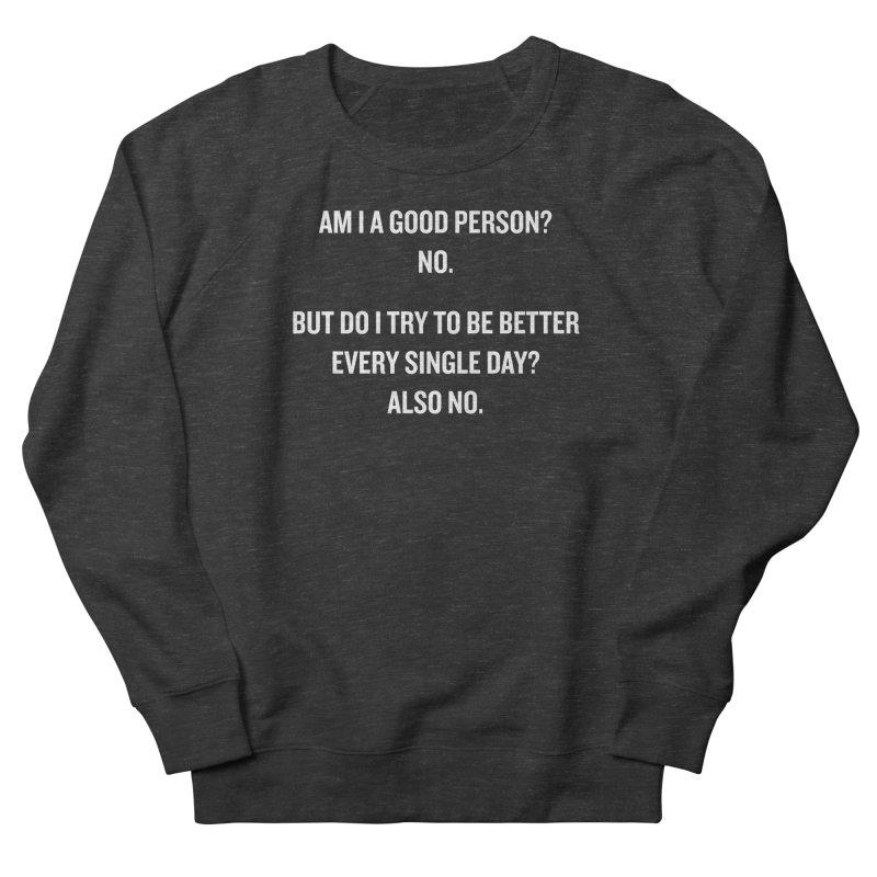 "SIDE EYE/""Good Person"" (White) Men's Sweatshirt by Josh Sabarra's Shop"