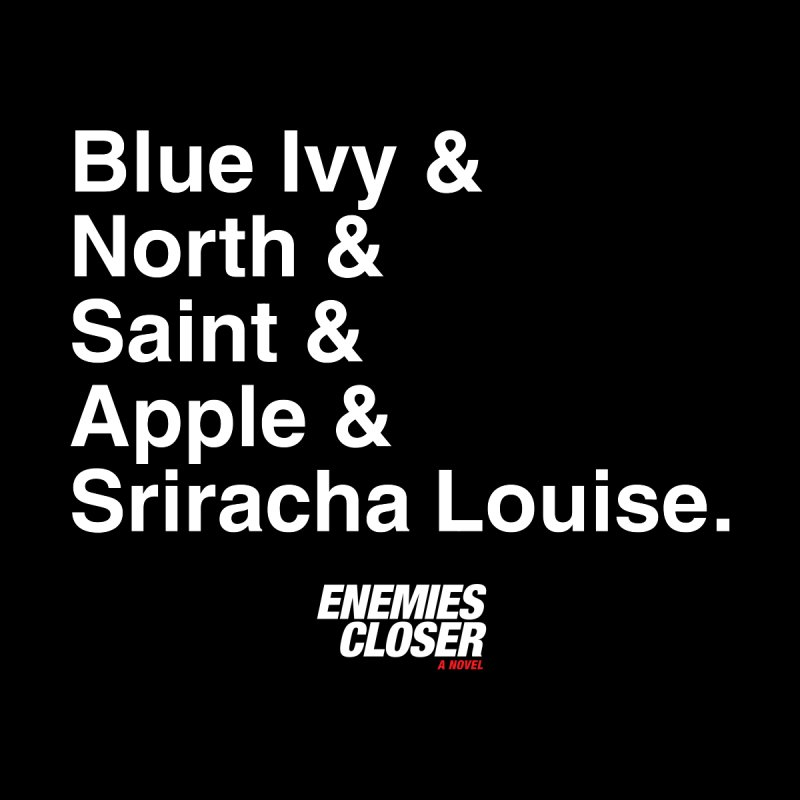 "ENEMIES CLOSER/""Sriracha Louise"" (White) Men's T-Shirt by Josh Sabarra's Shop"