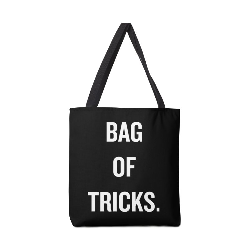 "SIDE EYE/""Bag of Tricks"" (White) Accessories Bag by Josh Sabarra's Shop"