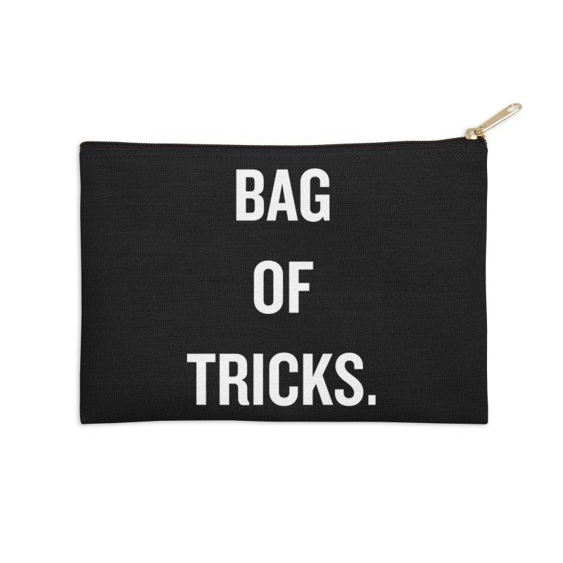 "SIDE EYE/""Bag of Tricks"" (White) Accessories Zip Pouch by Josh Sabarra's Shop"