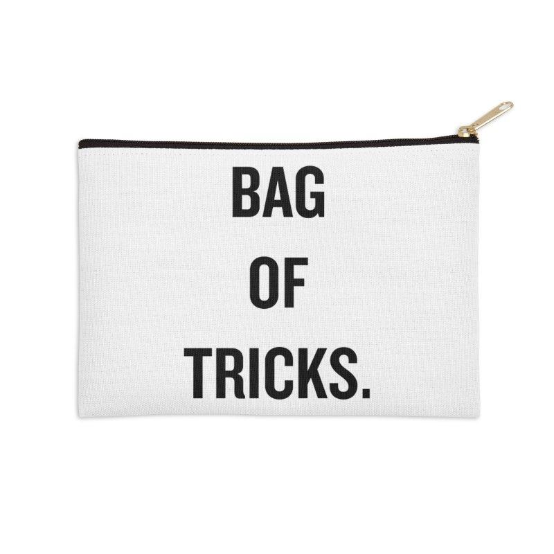 "SIDE EYE/""Bag of Tricks"" (Black) Accessories Zip Pouch by Josh Sabarra's Shop"