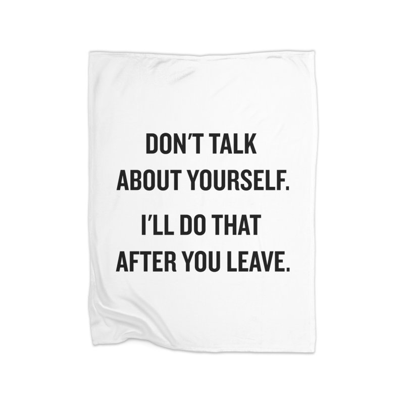 "SIDE EYE/""Talk About Yourself"" (Black) Home Blanket by Josh Sabarra's Shop"