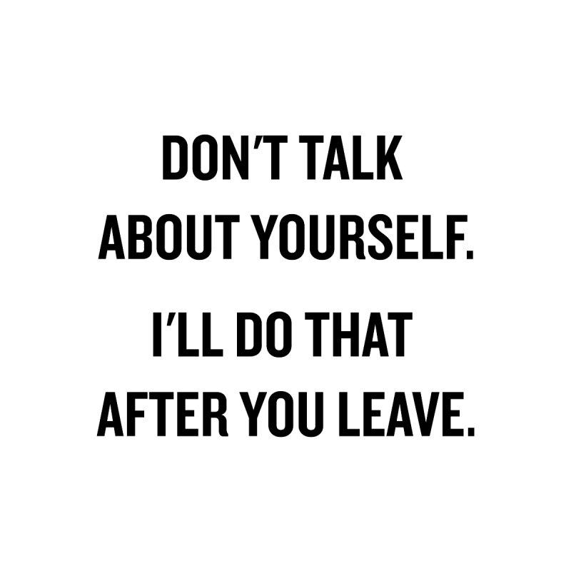 "SIDE EYE/""Talk About Yourself"" (Black) by Josh Sabarra's Shop"
