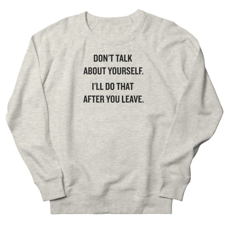 "SIDE EYE/""Talk About Yourself"" (Black) Men's Sweatshirt by Josh Sabarra's Shop"
