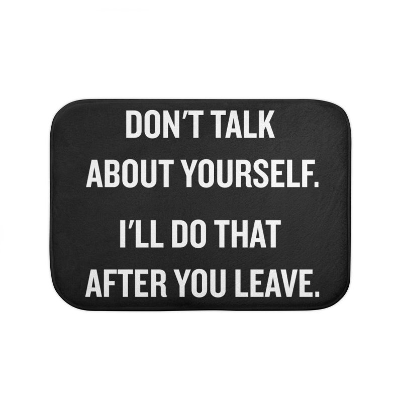 "SIDE EYE/""Talk About Yourself"" (White) Home Bath Mat by Josh Sabarra's Shop"