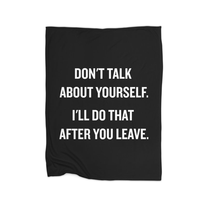 "SIDE EYE/""Talk About Yourself"" (White) Home Blanket by Josh Sabarra's Shop"