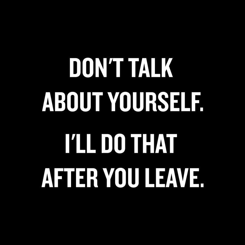 "SIDE EYE/""Talk About Yourself"" (White) by Josh Sabarra's Shop"