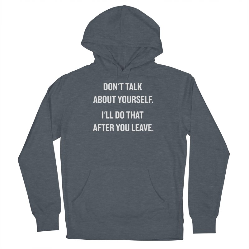 """SIDE EYE/""""Talk About Yourself"""" (White) Men's Pullover Hoody by Josh Sabarra's Shop"""